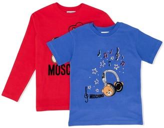 MOSCHINO BAMBINO logo T-shirt set
