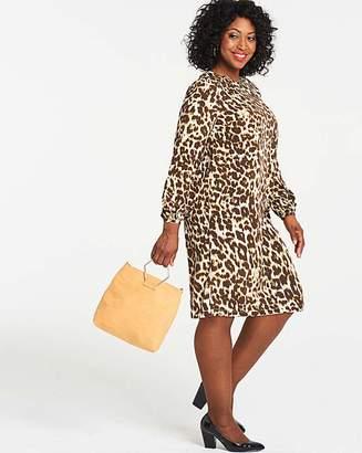 Capsule Leopard Print Long Sleeve Shift Dress