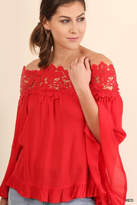 Umgee USA Lace Bell-Sleeve Blouse