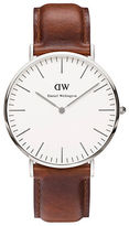 Daniel Wellington Classic St Mawes Stainless Steel and Leather Strap Watch, 40mm