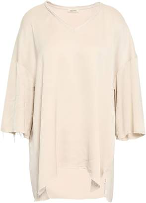American Vintage Oversized Distressed Satin-crepe Top