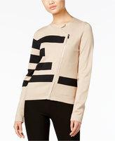 Grace Elements Asymmetrical-Zip Sweater Jacket