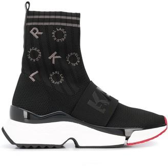 Karl Lagerfeld Paris Aventur embroidered logo sneakers