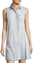 Cheap Monday Spend Detonatio Denim Dress, Light Blue