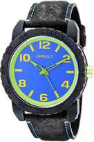 Sprout Men's ST/7011BLBK Corn Resin Dial Black Cork Strap Watch