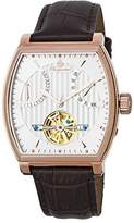 Burgmeister Men's Automatic Stainless Steel and Leather Casual Watch, Color:Brown (Model: BM230-305)