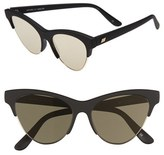 Le Specs Women's 'Kin Ink' 55Mm Sunglasses - Black Rubber/ Gold