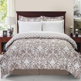 Solano 8-Piece Reversible Comforter Set in Taupe/White