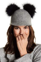 Kate Spade Pompom Accent Wool Cap