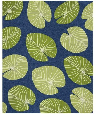 Martha Stewart Lily Pad Hand-Hooked Green Area Rug Rug Size: Rectangle 3' x 5'