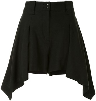 Shanshan Ruan High-Waisted Asymmetric Skirt