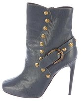 Roberto Cavalli Leather Studded Ankle Boots