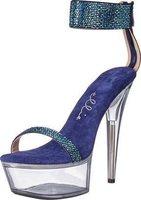 Ellie Shoes Women's Rhinestone Heeled Sandal