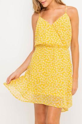 Lush Ditsy Print Spaghetti Strap Dress