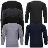 Mens Mid Knit Jumper Crew Neck New Seasons Designer WoolBlend Sweater Kangol