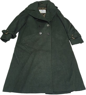 Aquascutum London Green Wool Coats