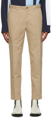 Lanvin Tan Patch Chino Trousers