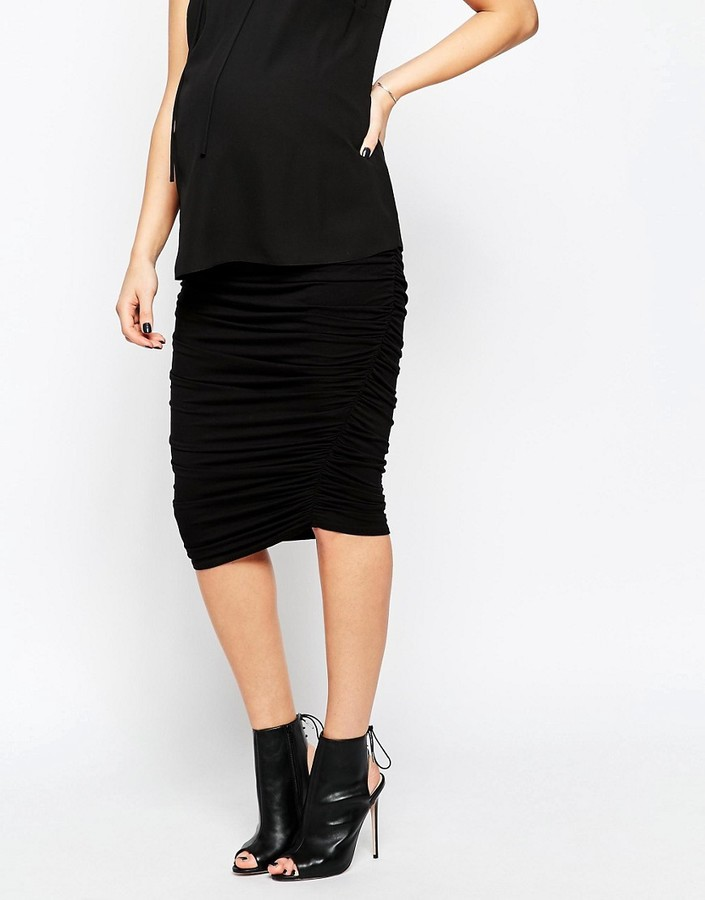 Asos Ruched Bodycon Skirt