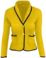 Zilcremo Women Plus Size Elegant Long Sleeve Short Business Suit Blazer 3XL