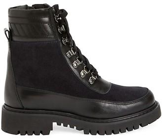 Aquatalia Johanna Lug-Sole Leather & Suede Hiking Boots