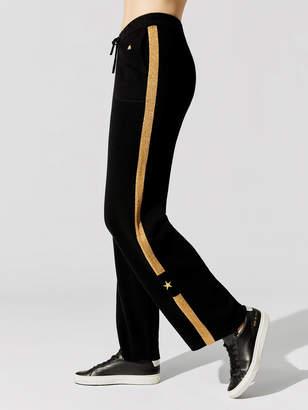 Bella Freud Britt Cashmere Straight Leg Track Pant
