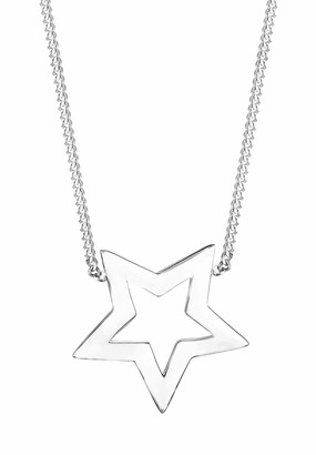 Elli Women's 925 Sterling Silver Star Astro Trend Blogger Filigree Heaven Necklace with Pendant of Length 45 cm