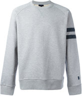 Lanvin stripe panel sweatshirt