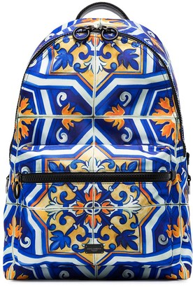 Dolce & Gabbana Tile-Print Backpack