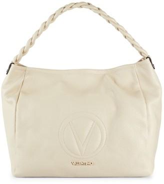 Mario Valentino Pebbled Leather Top Handle Bag