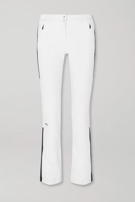 Kjus Sella Jet Two-tone Slim-leg Ski Pants - White