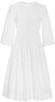 Serafini Philosophy di Lorenzo Embroidered Poplin Knee Length Dress