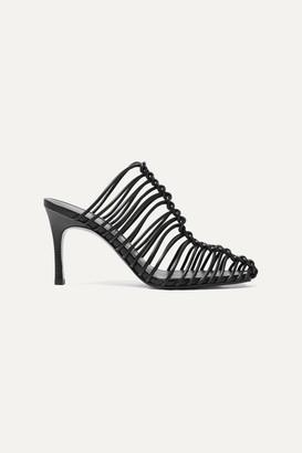 3.1 Phillip Lim Sabrina Woven Leather Mules - Black