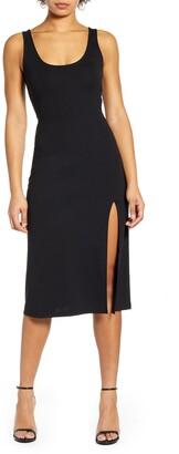 Leith Scoop Neck Midi Dress