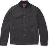 Barena Herringbone Stretch-cotton Bomber Jacket - Gray