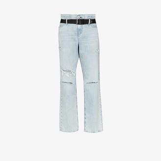 RtA Distressed Straight-Leg Jeans