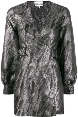 Ganni metallic sheen dress