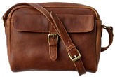 Fat Face Leather Across Body Camera Bag, Chestnut
