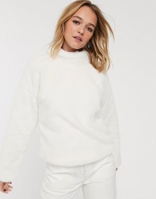 Glamorous sweater in faux fur