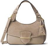 Michael Kors Josie Medium Suede & Leather Shoulder Bag, Dark Taupe