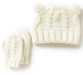 Starting Out Baby Boys Cable Knit Trapper Hat & Mittens Set