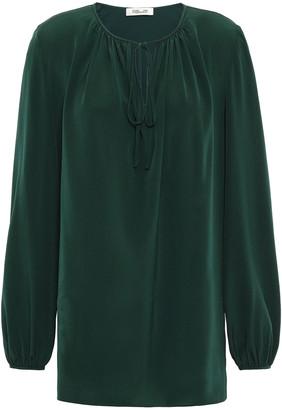 Diane von Furstenberg Gathered Silk Blouse