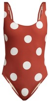Solid & Striped The Anne Marie Polka-dot Swimsuit - Womens - Red Multi