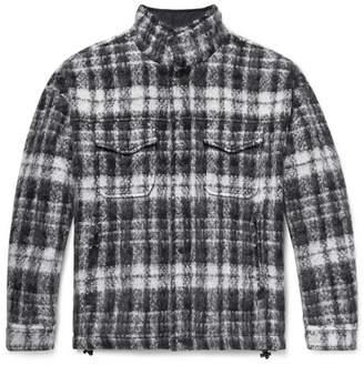 Aspesi Checked Textured-Knit Jacket