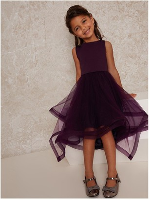 Chi Chi London Girls Thais Dress - Berry