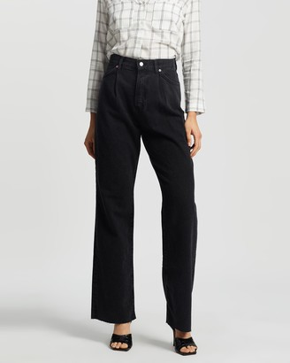 Mng Women's Black Straight - Daniela Jeans - Size 32 at The Iconic