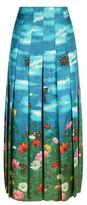 Gucci Garden Print Pleated Skirt