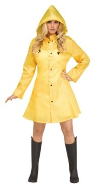 BuySeasons Women's Yellow Raincoat Adult Costume