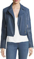 J Brand Jeans Aiah Zip-Front Leather Motorcycle Jacket