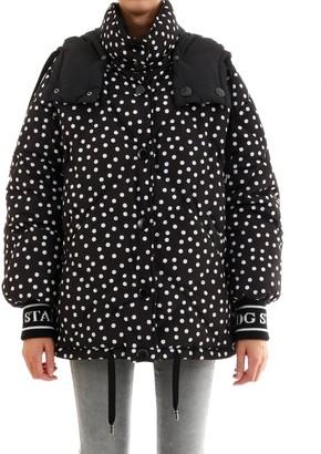 Dolce & Gabbana Reversible Hooded Polka Dot Jacket