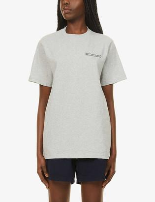 Sporty & Rich Good Health-print cotton-jersey T-shirt